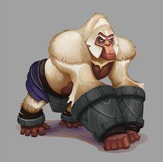ArtStation - Krytos ~ the great white ape, Bruce Glidewell