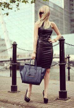 Céline Bag, Axparis Dress, The Office Heels