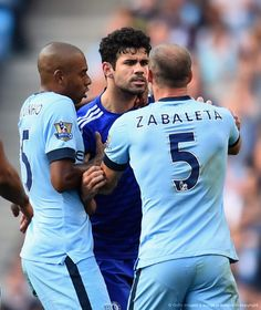 As Frank Lampard hurts Chelsea the Blues' buccaneering striker Diego Costa again gets benefit of doubt from the officials. Chelsea Football, Chelsea Fc, Costa, Stamford Bridge, English Premier League, Manchester City, Soccer, Sports, Journey