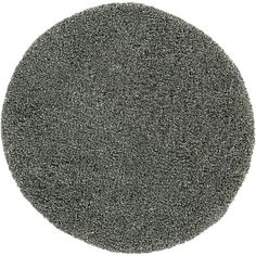 Zia Grey 6' Round Shag Rug in Round Rugs | Crate and Barrel