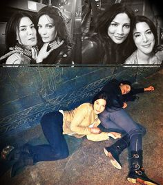 This is why I love Joanne Kelly and Jaime Murray. :) Warehouse 13!