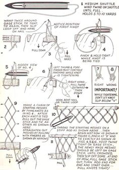 Basic Netmaking, How To Make Nets