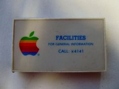 "Vintage Apple Computer Employee Promotional ""Facilities"" Tape Measure"