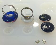 Add findings to your resin - jewelry, ear rings, necklaces, cufflinks