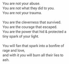 You are not your abuse.