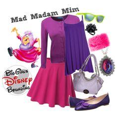 Mad Madam Mim Plus Size Disney Bounding by bgdisneybound on Polyvore featuring Doublju, SJP, Henri Bendel, Fendi, Eddie Borgo and Oakley