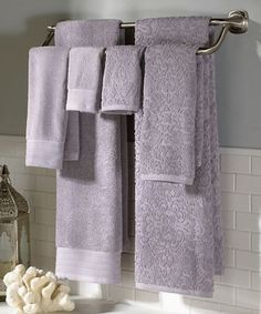 Purple Poppy Floral Pc Bathroom Towel Set Things My Granny - Lilac bath towels for small bathroom ideas