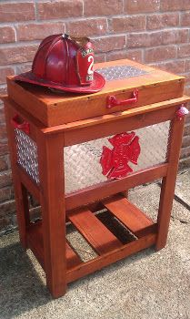 Custom Firefighter Patio Cooler | Shared by LION