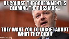 Of course the gov't is blaming the Russians, they want you to forget about what theydid