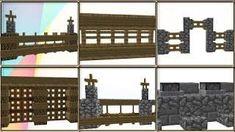 35 Minecraft Fence / Wall Design Ideas & Tricks!