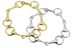Horse Bits Link Bracelet. Available in Silver or Gold. $35.00 on www.navikagirl.com  Sign up for the Navika Girl Newsletter and receive a 10% Off Discount Code!