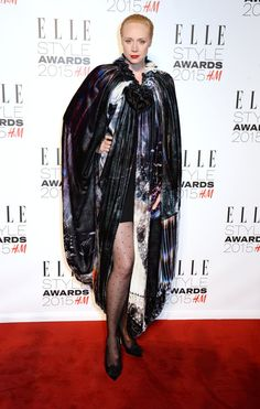 Pin for Later: What Would the Elle Style Awards Be Without Some Killer Outfits? Gwendoline Christie The Game of Thrones actress decided to go bold in a big, graphic printed cape.