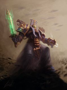 Thousand Sons Sorcerer by chimpinx on deviantART