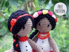 My description pupa. Ukrainka and just a doll. Discussion on LiveInternet - Russian Service Online diary Free Crochet, Knit Crochet, Crochet Hats, Craft Accessories, Doll Hair, Amigurumi Doll, Crochet Dolls, Free Pattern, Diy And Crafts