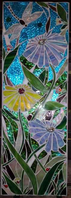 Beautiful Magical Garden Stained Glass Mosaic for your wall or by apomps, $290.00