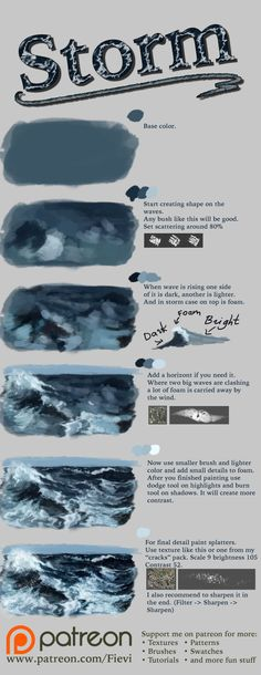 This is for photoshop but the way to build the waves works for painting, too Digital Painting Tutorials, Digital Art Tutorial, Art Tutorials, Drawing Tutorials, Makeup Tutorials, Deviantart, Photoshop, Drawing Techniques, Drawing Tips