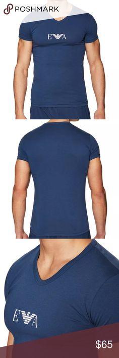 Giorgio Armani Royal Blue Cotton V-neck T-shirt Brand new t-shirt w/ tags attached in original packaging. Stretch cotton Giorgio Armani Shirts Tees - Short Sleeve