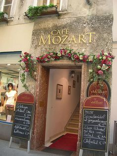 Salzburg, Cafe Mozart, Austria.    I ate lunch here on my visit & it was wonderful!!