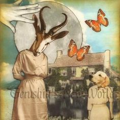 NEW - A Secret Invitation for Maragild - Anthropomorphic Watercolor Collage Fairy Tale Art Print