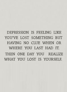 Quotes about Missing : Depression Quotes You feel like something's missing and that feeling doesn&#