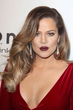Khloe K - Balayage Ombre Colour 6 to Colour 18 with Colour 16 tips
