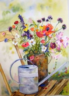 Garden Friends, painting by artist Kay Smith