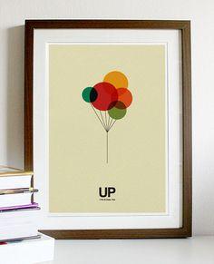 UP Plakat A3 drucken von Posterinspired auf Etsy