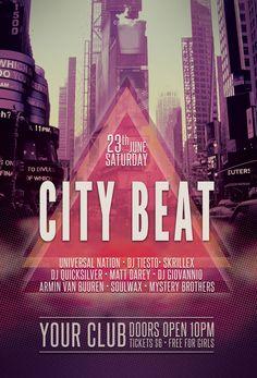City Beat Flyer by styleWish.deviantart.com