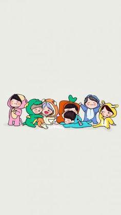 So cute Bts muster So cute Bts muster Bts Chibi, Chibi Wallpaper, Cartoon Wallpaper, Wallpaper Desktop, Bts Jin Cute, Bts Jimin, Bts 4th Muster, Bts Anime, Bts Backgrounds