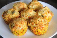 Receita de Cupcake salgado de legumes