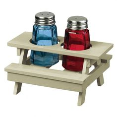Adorable Picnic Table Salt and Pepper Set.