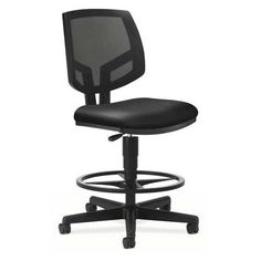 Hon Office Chair - Pin it :-) Follow us :-)) AzOfficechairs.com is your Office chair Gallery ;) CLICK IMAGE TWICE for Pricing and Info :) SEE A LARGER SELECTION of  hon office chair at http://azofficechairs.com/?s=hon+chair - office, office chair, home office chair -  HON Volt Mesh Back Task Stool, Black SofThread Leather « AZofficechairs.com