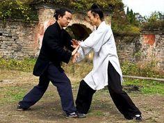 Taiji training, Hubei China # tai chi chuan, push hands