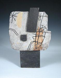 § John Maltby (born 1936), a large slab vase,