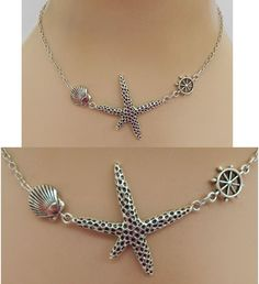 Silver Starfish Strand Necklace Jewelry Handmade NEW Chain Accessories Fashion #Handmade #Pendant