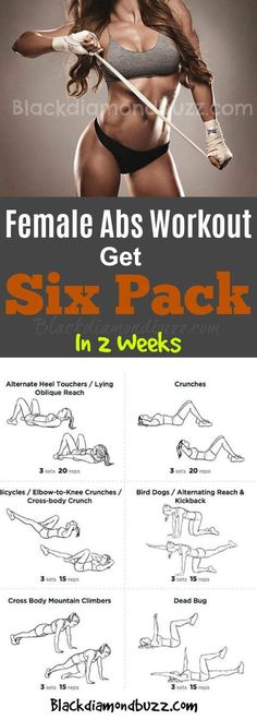 Female Abs Workout-Get Six Pack In 2 Weeks and Tone your Upper Body Women!