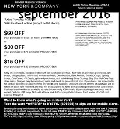 New York And Company Coupons Ends of Coupon Promo Codes MAY 2020 ! Of and Company, through stores outlet an american sold is the wome. Free Printable Coupons, Free Printables, Dollar General Couponing, Coupons For Boyfriend, Love Coupons, Grocery Coupons, Extreme Couponing, Coupon Organization, New York And Company