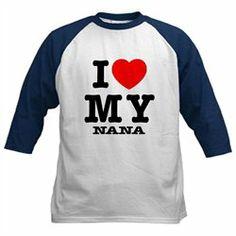 #Artsmith Inc             #ApparelTops              #Kids #Baseball #Jersey #Love #Nana #Grandma #Grandmother                     Kids Baseball Jersey I Love My Nana - Grandma Grandmother                                               http://www.snaproduct.com/product.aspx?PID=6990576