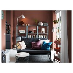 IKEA offers everything from living room furniture to mattresses and bedroom furniture so that you can design your life at home. Check out our furniture and home furnishings! Ikea Shelf Unit, Ikea Shelves, Living Room Furniture Inspiration, Home Decor Inspiration, Ikea Living Room, Living Room Sets, Sofa Cama Ikea, Black Sofa, Gray Sofa