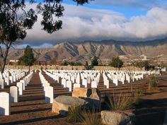 Fort Bliss National Cemetery at sunset. El Paso, TX, in the shadows of Mt. Franklin.  Rest in peace, Mom and Dad.