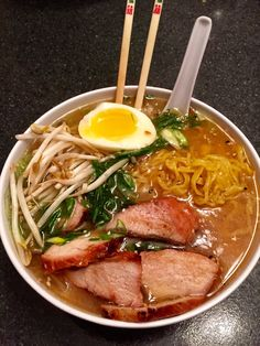 Post with 1962 votes and 10302 views. Home made Miso Ramen I Love Food, Good Food, Yummy Food, Asian Recipes, Healthy Recipes, Food Goals, Cafe Food, Aesthetic Food, Food Cravings