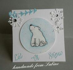 Luke der Eisbär, eines der knuffigen neuen Stempelmotive meiner lieben Freundin #BaerbelBorn designt für #Kulricke