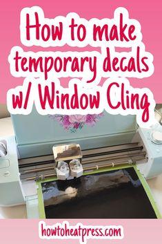 Cricut Window Cling – Make Temporary Window Decals! #cricut #windowcling #crafts #christmas #christmascrafts #cricutchristmasprojects #walldecal #vinyl #vinyldecal #crafty #diy #cricutexploreair2 #cricutmaker #cricutmade #decals