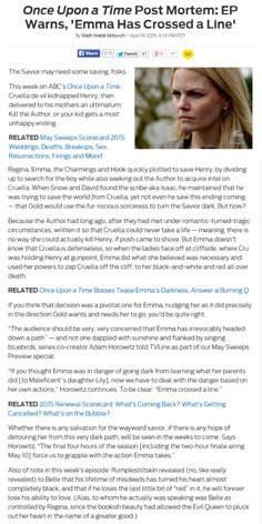 Once Upon a Time Post Mortem: EP Warns, 'Emma Has Crossed a Line'