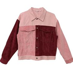 PATCH COLORED PINKY RED DENIM JACKET