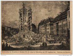 Wiederaufbau der Kreuzkirche in Dresden 1765 (Canaletto)   -  Druck , entnommen…