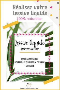 Découvre comment faire sa lessive avec ma recette de lessive liquide écologique maison facile (DIY) à base de savon de Marseille. Pour nettoyer le linge sale. Peut s'utiliser dans la machine à laver ou pour une #lessive à la main. Tuto pas à pas et étiquette gratuite pour le flacon à télécharger. Avec la recette de l'adoucissant en bonus. Facile, rapide et économique. #lessive #liquide #savon #diy Permaculture, Liquid Soap, Diy, Cleaning, Homemade, Blog, Lifestyle, Modern, Laundry Detergent Recipe