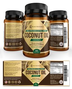 Virgin Coconut Oil Supplement Label Template http://www.dlayouts.com/template/859/virgin-coconut-oil-supplement-label-template