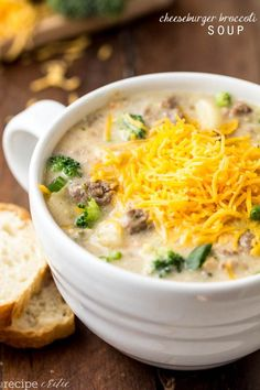The flavors came together so well in this soup. All of the goodness of a cheeseburger is packed inside. But the added broccoli gave it more flavor.