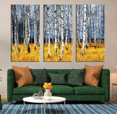 Large Wall Art Canvas Prints - Dry Tree Branches Wall Art - Forest Can   Extra Large Wall Art Canvas Print